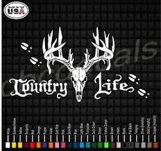 Country Life Deer Skull Vinyl Decal Sticker Deer Hunting Truck Vinyl Decals Ebay