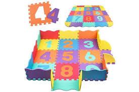 Swonuk Baby Play Mat With Fence 1cm Thick Interlocking Foam Floor Tiles Kids Puzzle Mat Baby Crawling Mat Numbers Kogan Com