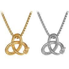 dragon pattern celtic knot pendant