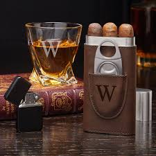 end whiskey and cigar gift set
