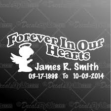 Great Deals On Forever In Our Hearts Boy Angel Car Decals