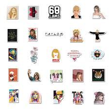 447147206 50pcs Singer Taylor Alison Swift Stickers Decal Vinyl For Diy Stationery Scrapbooking Guitar Laptop Ps4 Skateboard Stickers Home Garden Arts Crafts Sewing