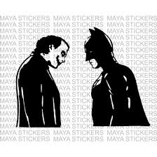 Batman And Joker Decal Stickers Suitable For Cars Bikes Laptops
