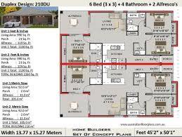 duplex house plan 210 m2 2260 sq