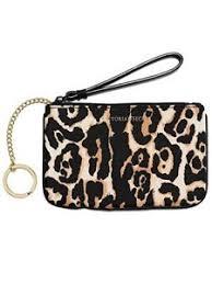 wristlet makeup bag leopard print