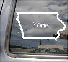 Amazon Com Iowa State Home Outline Ia Des Moines The Hawkeye State Usa America Cars Trucks Moped Helmet Hard Hat Auto Automotive Craft Laptop Vinyl Decal Store Window Wall Sticker 07037