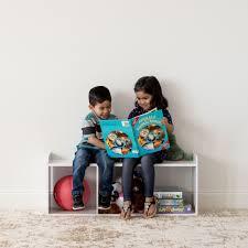 Iris Usa Kids Bookshelf Bench With Reading Nook Multiple Colors Walmart Com Walmart Com