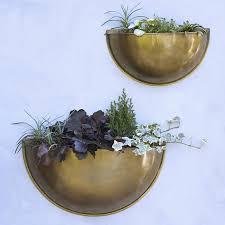 Brass Wall Planters From Rowen Wren In The Uk Gardenista