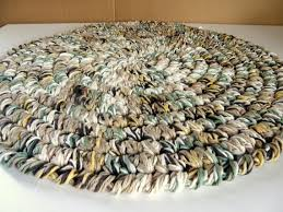 earthtone round area rug thick cotton