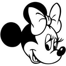 Diy Disney Mickey Heads Disney Minnie Mouse Head 8 Inch Vinyl Decal Sticker White Mickey Mouse Silhouette Coloring Pages Disney Decals