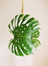 giant diy tropical leaf pendant light
