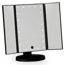 black three way vanity mirror small