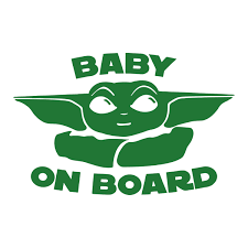 Baby Yoda On Board Stickers Funny Window Vinyl Decal Sticker Luxury Trendy