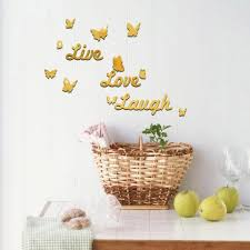 Live Laugh Love Quote Removable Wall Art Stickers Mirror Decal Diy Roo Home Decor By Jules