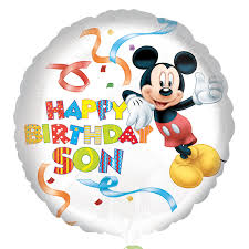 Mickey Mouse Happy Birthday Son Standard HX Foil Balloons S60 - 5 ...