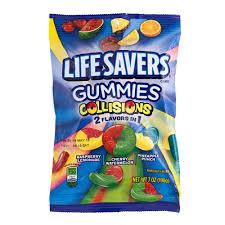 lifesavers gummies collisions 7 oz peg bag