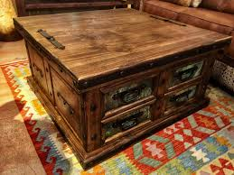 9 lift top trunk coffee table with