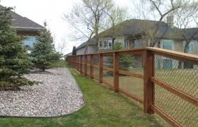 Wood And Chain Link Fence Bing Images Black Chain Link Fence Chain Link Fence Backyard Fences