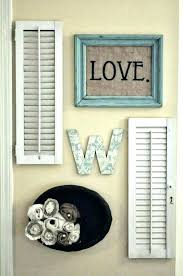 popular shutter wall art antique door