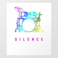 drum set art prints for any decor style