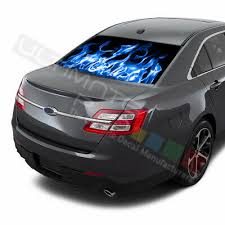 Flames Decals Rear Window See Thru Stickers Perforated For Ford Taurus 2018 2019 Ebay
