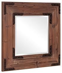 caldwell natural wood rustic mirror 28