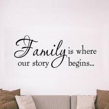 Family Is Where Our Story Begins Family Wall Quotes Decal Vwaq Com