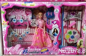 shree plastic princess doll with makeup