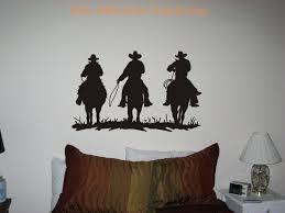 Cowboys Horses Western Vinyl Wall Art Decor Decal Stickers Vinyl Wall Art Wall Art Decor Horse Decor