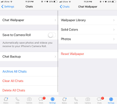 change the chat background in whatsapp