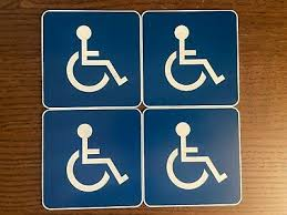 Handicap Signs Window Sticker Decal 7 X 7 1 75 Picclick