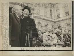 1957 Press Photo Mayor New York Abraham Beame Mary John Lindsay New Je |  Historic Images
