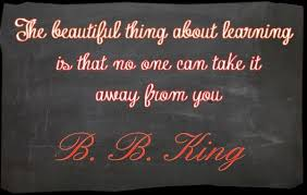 an inspirational quote about knowledge learning and education