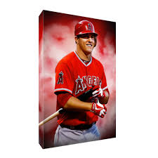 Mike Trout Anaheim Angel S Mvp Poster Photo Painting Artwork On Canvas Wall Art