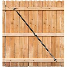 Amazon Com True Latch Gate Brace Wood Privacy Fence Anti Sag Gate Kit 1 Piece Construction 64 Long Gate Hardware Kit For Outdoor Yard Wooden Fence Gates 1 Patented