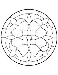 rose window stained glass pattern