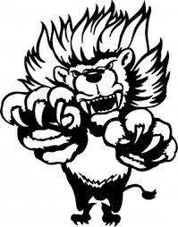 Pouncing Attacking Lion Decal Car Or Truck Window Decal Sticker Or Wall Art Decalsrock