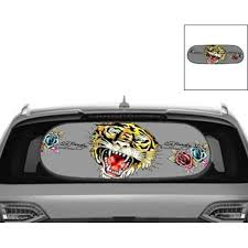 Ed Hardy Car Sun Shade For Rear Windscreen Tiger