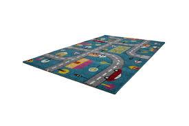 Zoomie Kids Howton Kids Play Cars Design Blue Gray Area Rug Reviews Wayfair