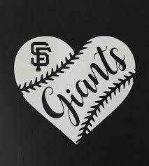 San Francisco Giants Baseball Heart Vinyl Car Decal Bumper Etsy