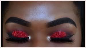 red glitter makeup saubhaya makeup