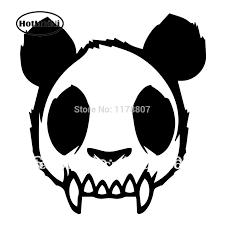 Hotmeini Skull Zombie Panda Evil Mad Dead Goth Vinyl Decal Car Sticker 4 63 X 5 Black Car Styling Car Stickers Aliexpress