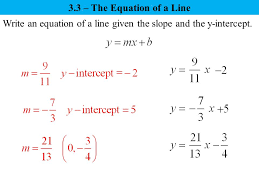 three forms of an equation of a line