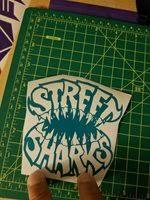 Street Sharks 4inch Vinyl Car Wall Decal Sticker Colo
