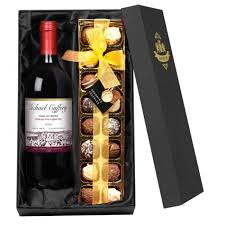 chocolate set box gifts for wine