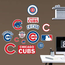 Chicago Cubs Team Logo Assortment Wall Decal Cubs Room Cubs Boy Sports Bedroom