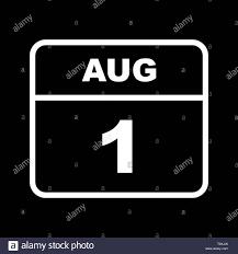 Il 1 agosto è data in un unico giorno calendario Foto stock - Alamy