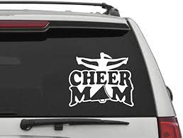 Amazon Com Cheer Mom Car Decal Cheer Mom Car Sticker Cheerleading Car Decal Cheerleading Car Sticker Gymnastics Decal Sport Decor Home Kitchen