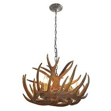 rustic antler pendant ceiling light