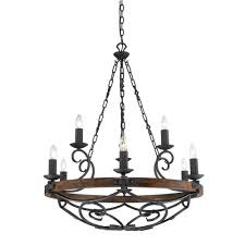 collection 9 light black iron 2 tier
